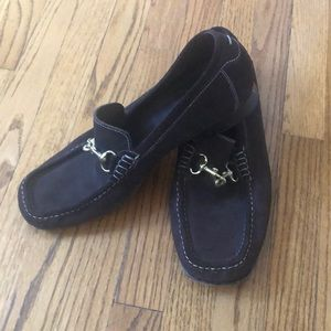 Excellent condition Coach suede loafers